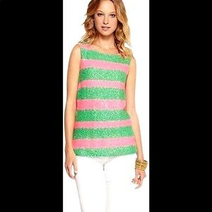 Lilly Pulitzer Regina Tropical Cucina Sequin Top